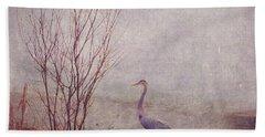 Beach Sheet featuring the photograph Le Retour De Mon Heron by Aimelle