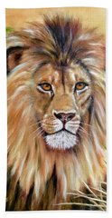 Le Roi-the King, Tribute To Cecil The Lion   Beach Towel