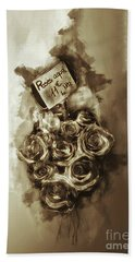 Les Roses De Paris Beach Sheet by Jack Torcello