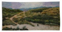 Beach Sheet featuring the painting Lead Me To Tranquility by Ron Richard Baviello