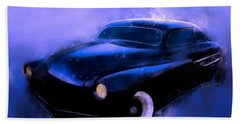 Lead Sled 51 Mercury Watercolour Illustration Beach Towel
