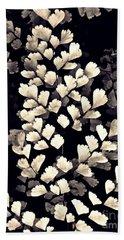 Leaf Abstract 15 Sepia Beach Towel by Sarah Loft