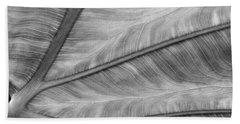 Leaf Abstraction Beach Towel