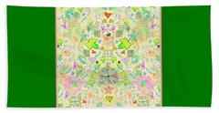 Leaf And Flower And Heart Pattern  Beach Sheet