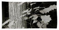 Leaf And Tree Beach Sheet