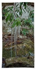Leaf Drippings Beach Towel