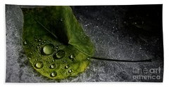 Leaf Droplets Beach Sheet