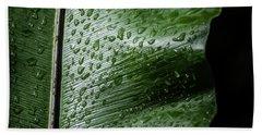 Leaf Droplets II Beach Sheet