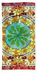 Leaf Motif 1901 Beach Sheet by Padre Art