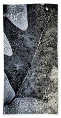 Leaf On Ice Beach Towel
