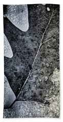 Leaf On Ice Beach Towel