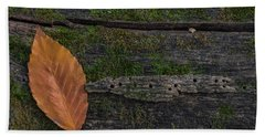 Leaf On Log  Beach Sheet