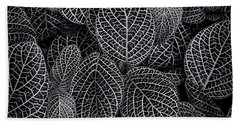 Beach Towel featuring the photograph Leaf Pattern by Wayne Sherriff