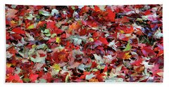 Leaf Pile Beach Towel