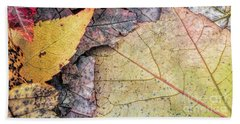 Leaf Pile Up Beach Sheet by Todd Breitling