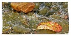 Leaf, Rock Leaf Beach Towel