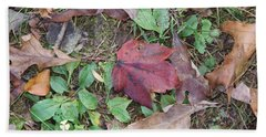 Leaf Standing Out In A Crowd Beach Towel