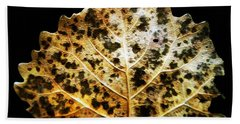 Leaf With Green Spots Beach Towel by Joseph Frank Baraba