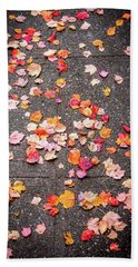 Leafy Autumn Walk Beach Sheet