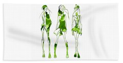 Leafy Green Salad Dressing Beach Towel