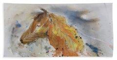 Leafy Horse Beach Sheet
