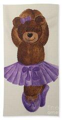 Beach Sheet featuring the painting Leah's Ballerina Bear 3 by Tamir Barkan