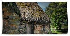Leanach Farmhouse Culloden Moor  Beach Towel