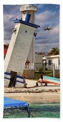 Leaning Lighthouse Beach Towel