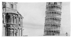 Leaning Tower Of Pisa Italy - C 1902  Beach Sheet