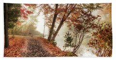 Leaning Tree Beach Towel by Betsy Zimmerli