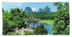 A View In Yangshuo Beach Towel