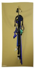 Leash Lady Just Hanging On The Wall Beach Towel