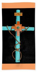 Leather And Stone Cross Beach Sheet