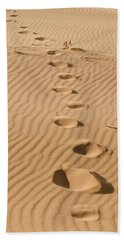 Leave Only Footprints Beach Towel by Heather Applegate