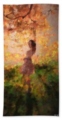 Beach Towel featuring the photograph Leave The Past by Rose-Maries Pictures