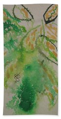 Beach Towel featuring the drawing Leaves by AJ Brown