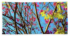 Beach Towel featuring the photograph Leaves And Trees 980 by D Davila