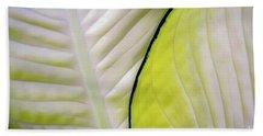 Leaves In White Beach Towel