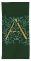 Leaves Letter A Beach Towel