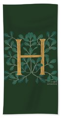 Leaves Letter H Beach Sheet