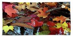 Leaves Of Color Beach Towel