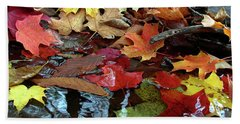 Leaves Of Color Beach Sheet