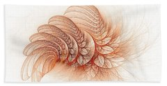 Leaves Of The Fractal Ether-2 Beach Towel