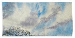 The Blue Hills Of Summer Beach Towel