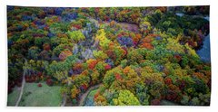 Lebanon Hills Park Eagan Mn Autumn II By Drone Beach Towel