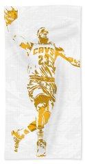 Lebron James Cleveland Cavaliers Pixel Art 12 Beach Towel