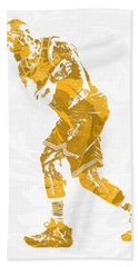 Lebron James Cleveland Cavaliers Pixel Art 13 Beach Towel