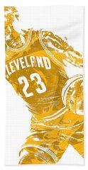 Lebron James Cleveland Cavaliers Pixel Art 20 Beach Towel