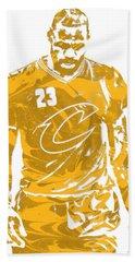Lebron James Cleveland Cavaliers Pixel Art 21 Beach Towel