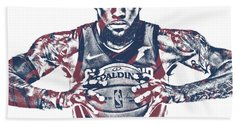 Lebron James Cleveland Cavaliers Pixel Art 54 Beach Towel